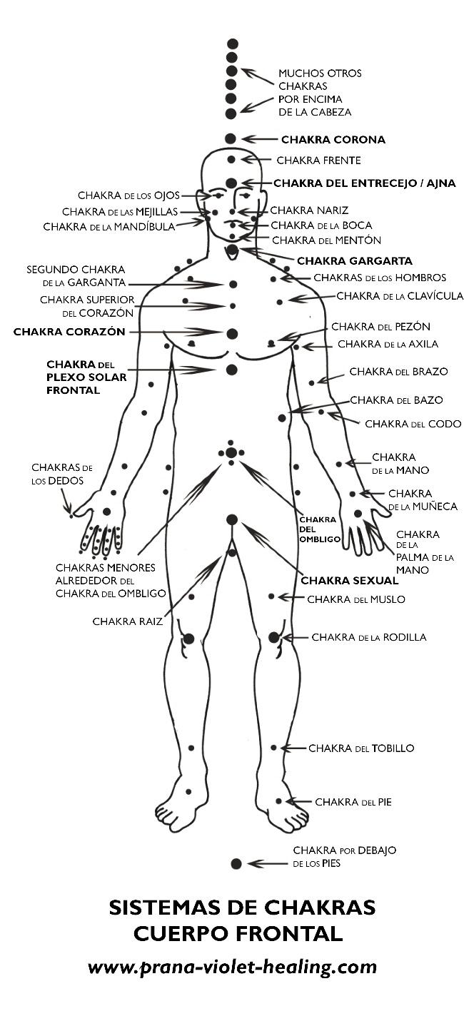 sistema de chakras delanteros