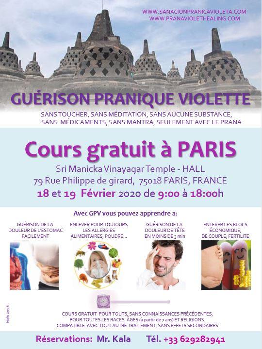 GUÉRISON PRANIQUE VIOLETTE Cours gratuit à PARIS