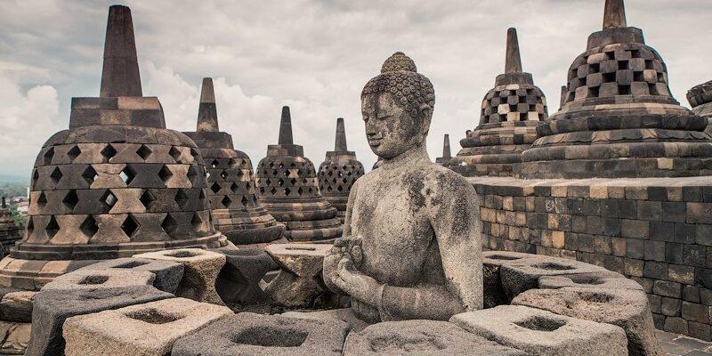 Borobudur candi, Indonesia